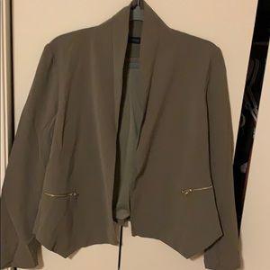Army green light jacket